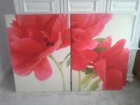 Beautiful flower print photo canvasses. Spectacular on a large wall