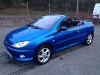 2004 peugeot 206 cc ,one year mot.price;£ 1190 ono px/exch
