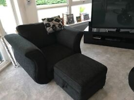 Stunning sofa bed and matching chair and stool