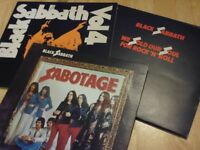 Black Sabbath Trio of original vinyl LP's