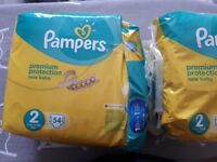 Pamppers new baby size 2. FREE