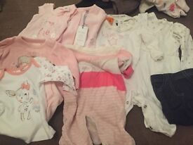 Bundle of baby's clothes