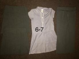 Girl school uniform clothes age 6-7