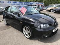 2006 SEAT IBIZA FR TDI BLACK FIVE DOOR NEW MOT CHEAP DIESEL CAR