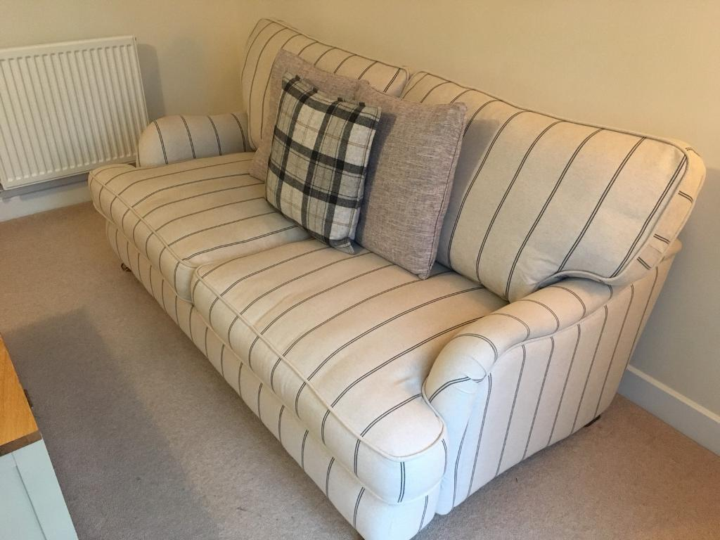Dfs Large Country Living Gower Stripe Sofa In Radstock