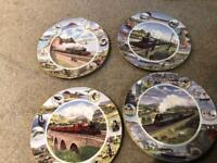 4 Train Plates Royal Doulton Limited Addition Wish you were here collection R524