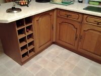 Solid oak kitchen for sale