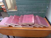 10 Volumes of The Great War Large Antique Books £15