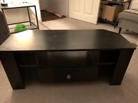 Black Wooden Corner TV Unit