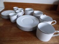 John Lewis Tea and Espresso Cups and Saucers, Set for 4 people, White - STILL AVAILABLE