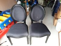 2 black chairs