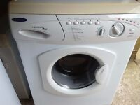 Hotpoint washing machine 6 kg load fast wash 1200 spin hot and cold fill comes with hoses vgc gwo