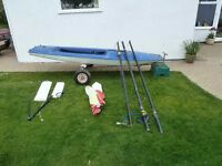 Topper Sailing Dinghy / Boat and Launching Trolley