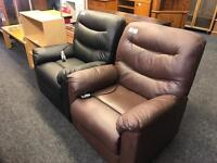 Leather rise and recline chairs
