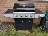 4 Burner BBQ with side cooker