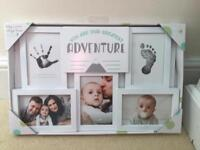 Photo and foot/hand print frame - NEW IN BOX