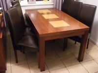 DINING TABLE AND 6 CHAIRS VERY GOOD CONDITION
