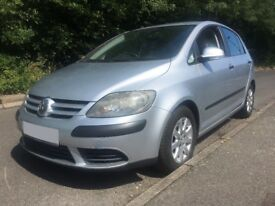 2005 Volkswagen Golf Plus 1.6 FSI, Automatic, Very Low Mileage, Silver, MOT and TAX, Parking Sensor