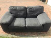 Cargo Two-Seater Grey Fabric Sofa