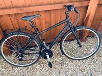 Tredz Hybrid Men's bike 17 inch Black/Grey