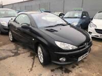 Peugeot 206 CC 2.0 16v SE 2dr£1,485 p/x welcome FREE WARRANTY. NEW MOT