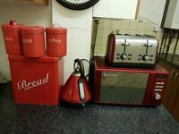 Set of Red kitchen appliances for sale