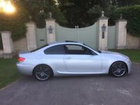 BMW 330D MSPORT COUPE, MANUAL, SILVER, FULL BMW SERVICE HISTORY, 2 OWNERS