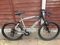 MENS 22 INCH INCLINE TIGER TWIN DISC BRAKES SUSPENSION MOUNTAIN BIKE 21 SPEED SMETHWICK £55