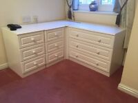 Bedroom Cabinets (4 white units)