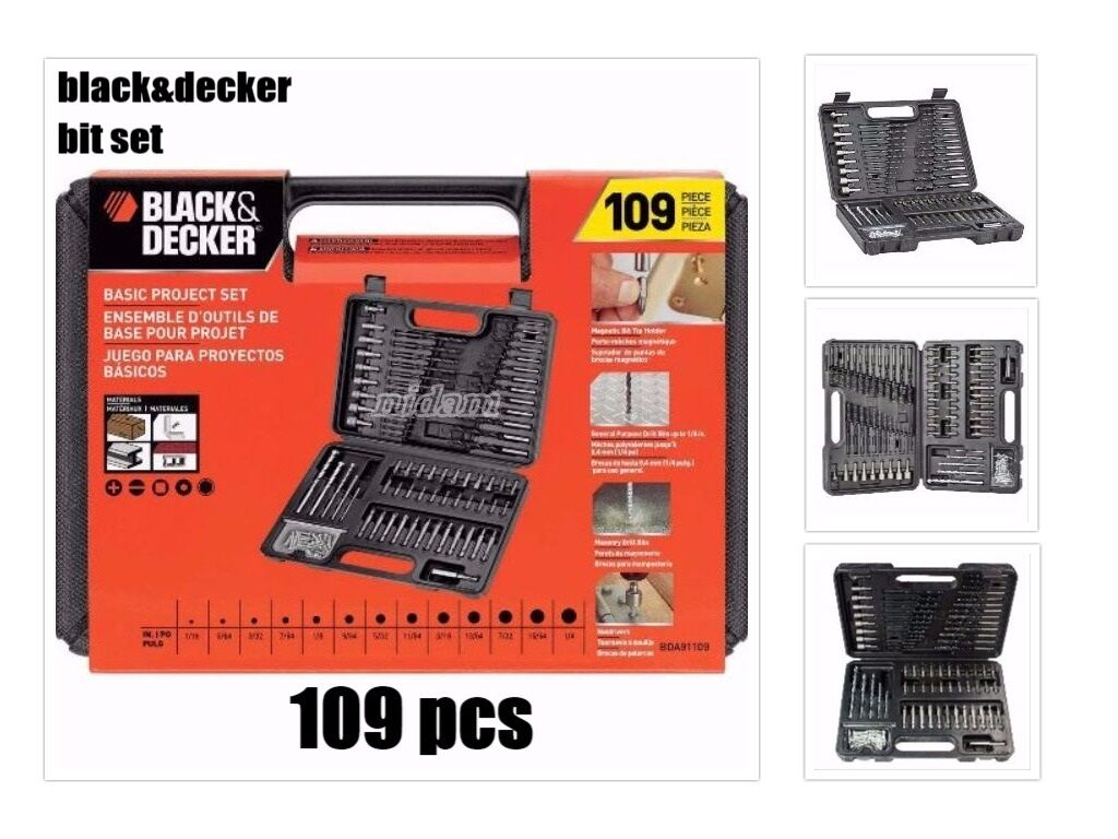 Black & Decker BDA91109 Combination Accessory Set 109pc Deta