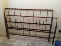 Metal King size Bedstead (Made in Italy)