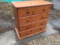 Solid chunky pine chest of drawers. Dovetail Joints. S