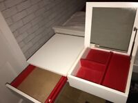 White Ikea Dressing Table/ Desk