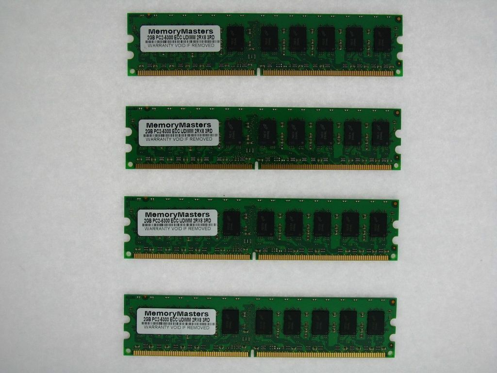 4x2GB NEW Memory PC2-5300 ECC UNBUFFERED RAM Dell Poweredge T105 8GB