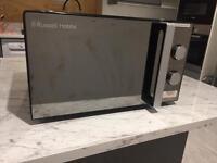 Mirror door microwave