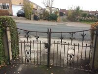 2 x iron gates. Perfect for restoration project