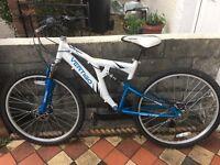 Vertigo Mont Blanc dual suspension mountain bike 2 gears 16 inch frame 26 inch wheels