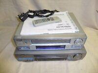 One Aiwa, One JVC video recorder