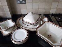 """Windsor"" Design Art Deco semi porcelain by Wood & Sons Set"