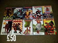 Marvel Deadpool and Green Arrow graphic novels