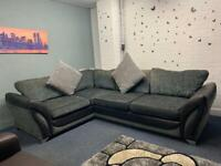 Pending Grey & Black DFS Corner sofa delivery 🚚 sofa suite couch furniture