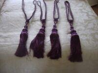 purple tassled tie backs