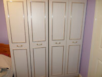 x3 wardrobes, x1 chest of drawers, x1 dressing table/wardrobe