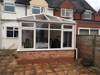 Conservatory White UPVC for Sale. Approx 4.4 mts x 3.2 mts