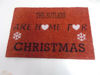 The Butlers are home for christmas Door Mat Cior Fibre 60 x 40cm