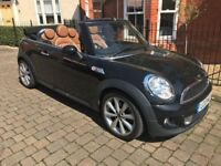 Mini Cooper S Convertible 180 BHP black July 2013 only 23K mile CHILLI pack tan leather 1 lady owner