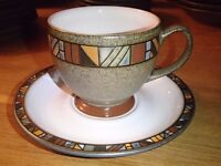 DENBY MARRAKESH FIRST QUALITY TEACUP & SAUCER – 5 AVAILABLE