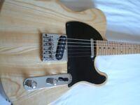 HOndo Deluxe Series 757 electric guitar - Japan - '80s- Fender Black 'guard Telecaster homage