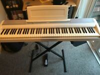 KORG white 88 key keyboard with sustain pedal and stand