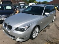 2008/08 BMW 5 SERIES 3.0 530d M SPORT TOURING AUTOMATIC DIESEL ESTATE,GREAT SPEC ,STUNNING LOOKS